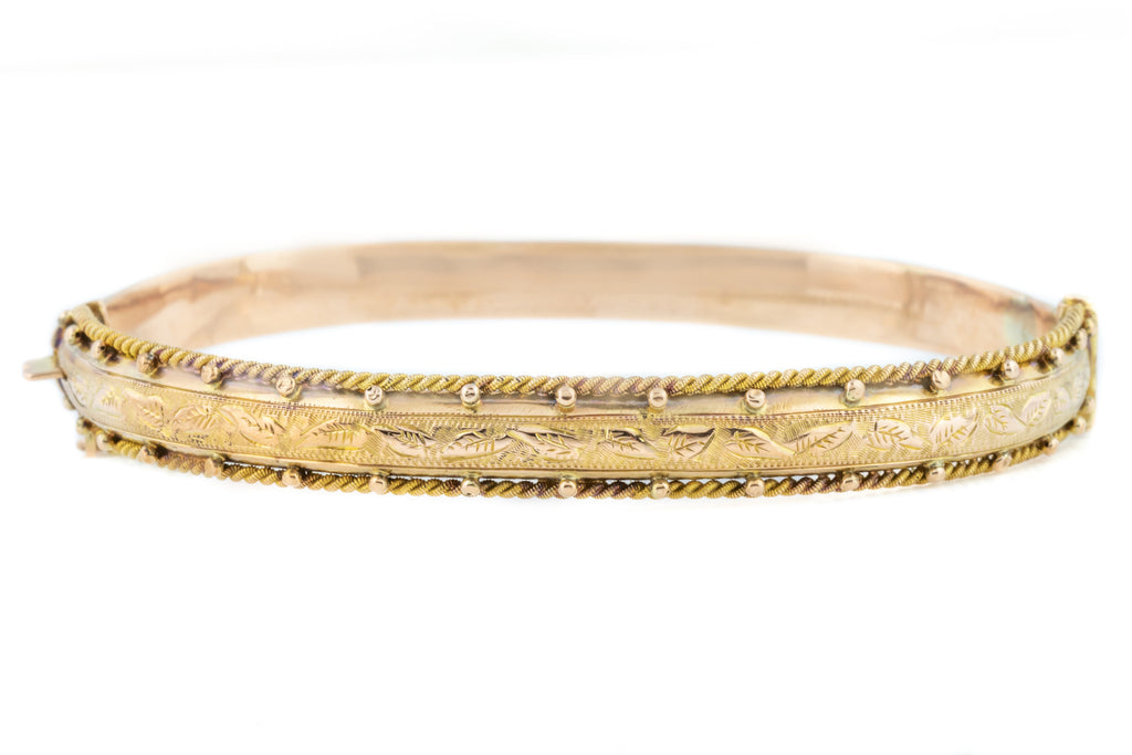 Antique Rose Gold Bangle c.1900