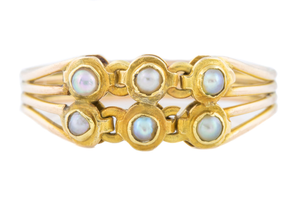 Georgian 18ct Gold Pearl Ring