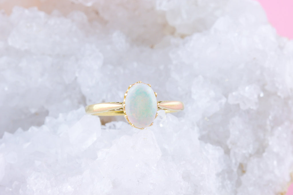 18ct Gold Victorian Opal Ring
