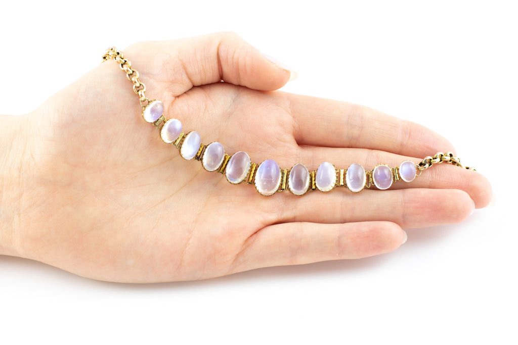 Victorian Moonstone Necklace in 9ct Gold