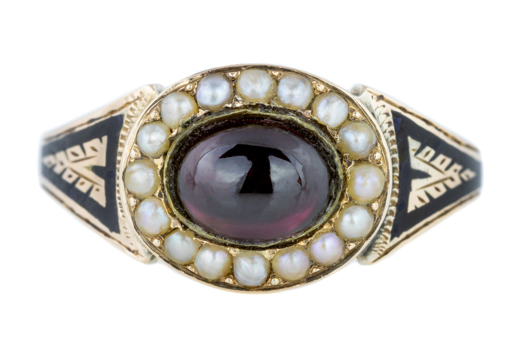 Victorian Mourning Ring c.1878