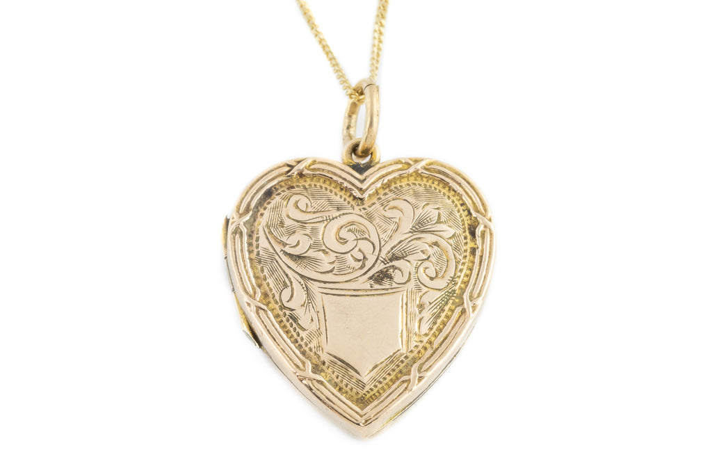 Antique 9ct Gold Heart Locket