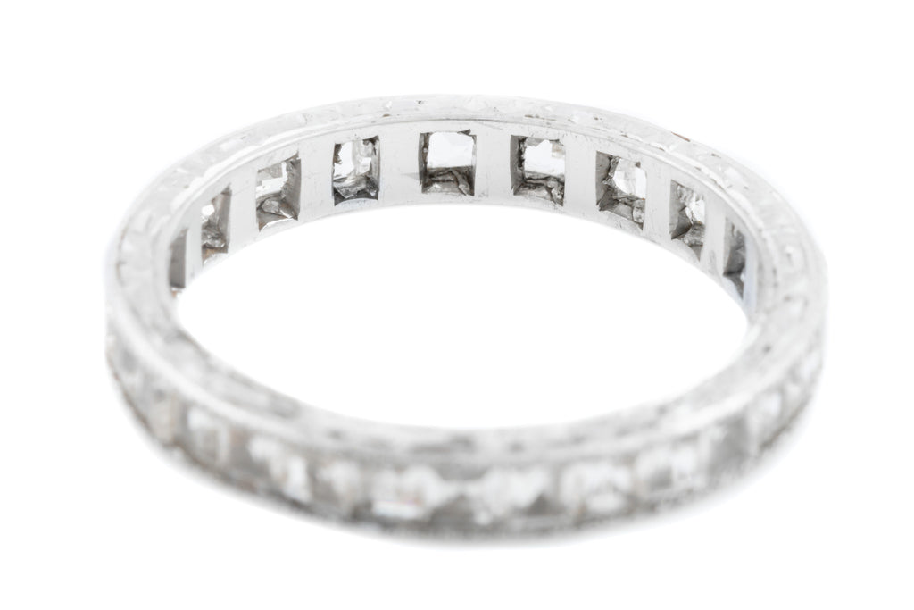 Art Deco Silver Paste Eternity Ring