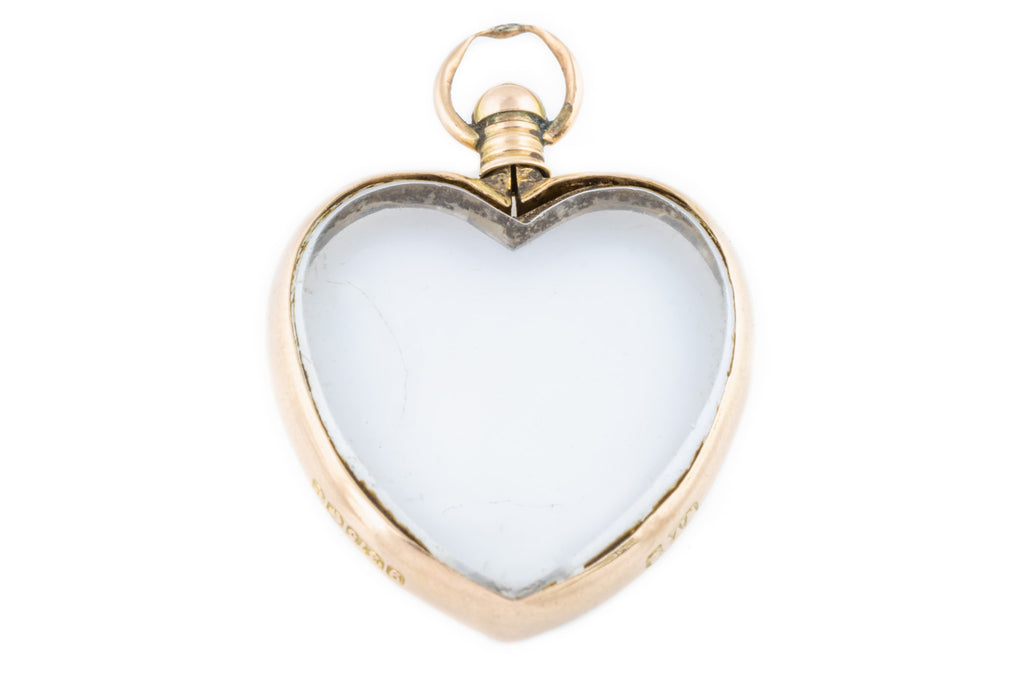 Edwardian 9ct Gold Heart Locket c.1904