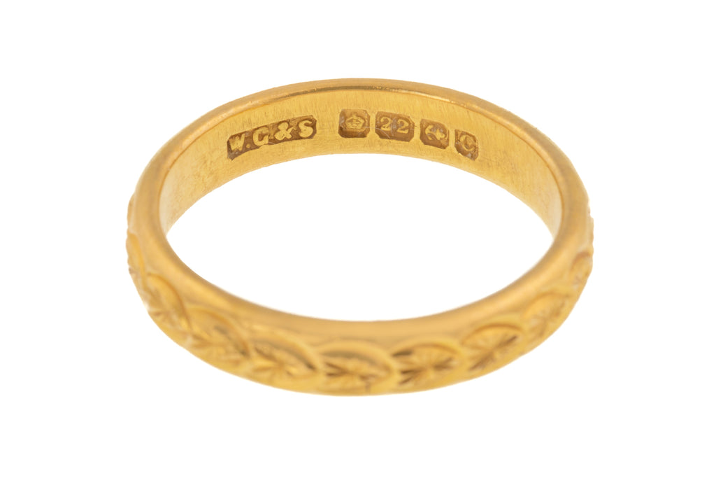 Art Deco 22ct Gold Wedding Band c.1927