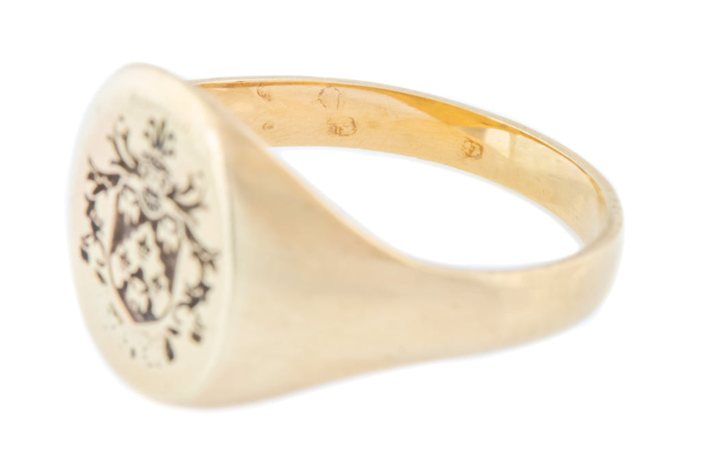 Antique 9ct Gold Signet Ring