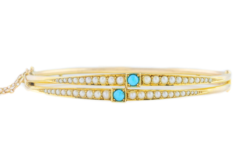 Victorian 15ct Gold Bangle c.1890
