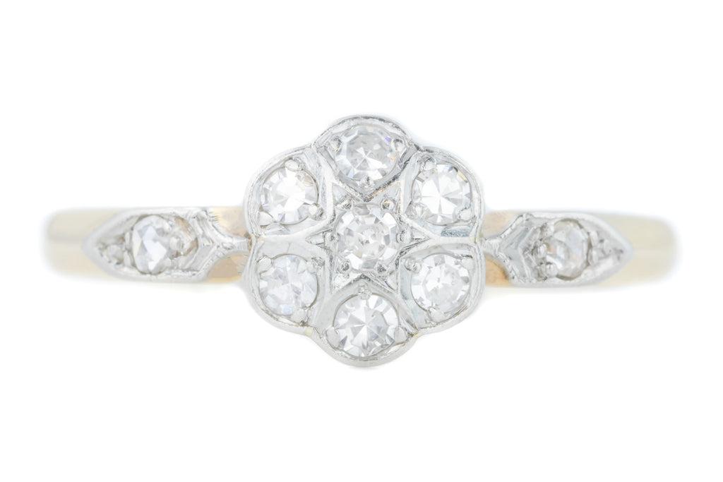 Art Deco Diamond Cluster Ring c.1920