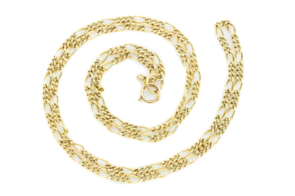 "Victorian 9ct Gold Chain Necklace - 16"" (2.9g)"