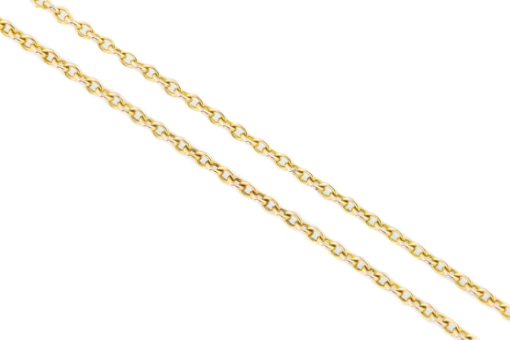 "Antique 9ct Gold Belcher Chain 20"" - 3.7g"