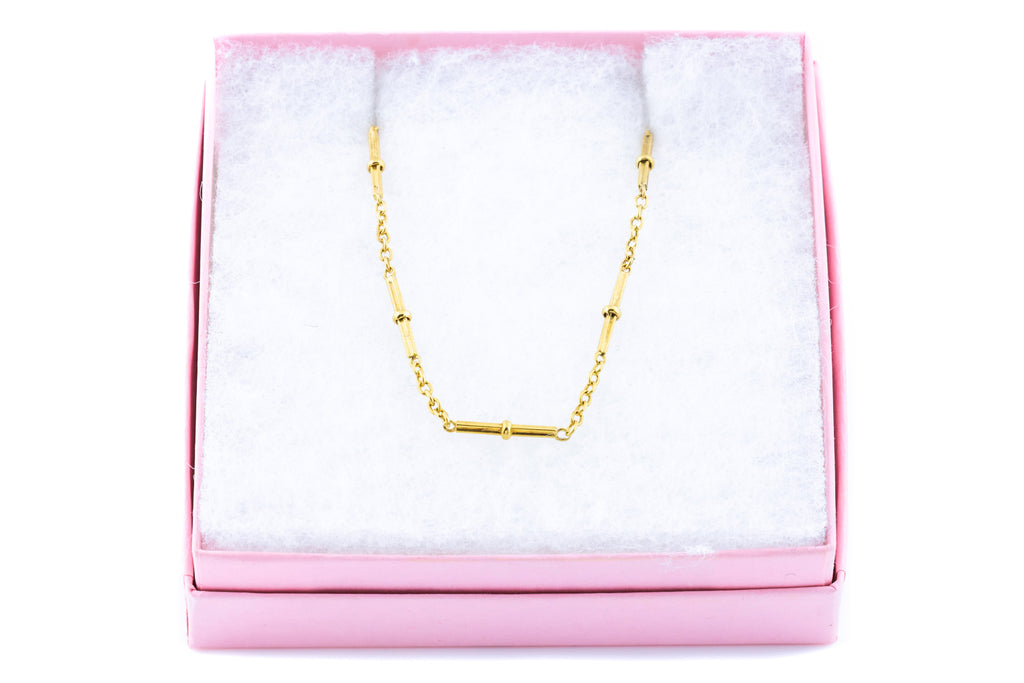 "Antique 15ct Gold Chain Necklace 17.75"" - 9.26g"