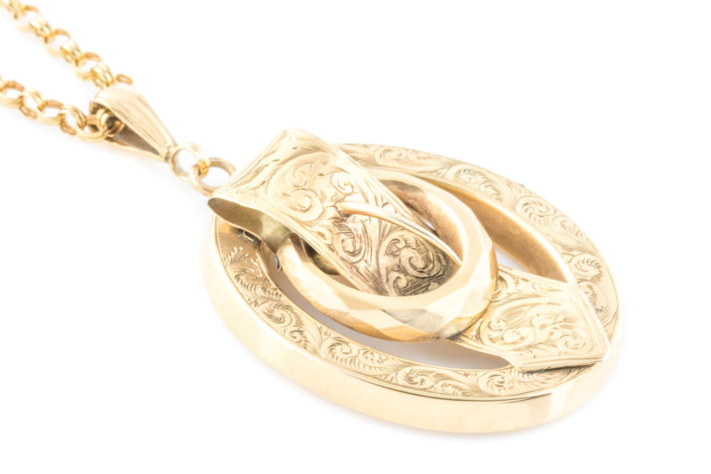 Victorian 18ct Gold uckle Pendant c.1880