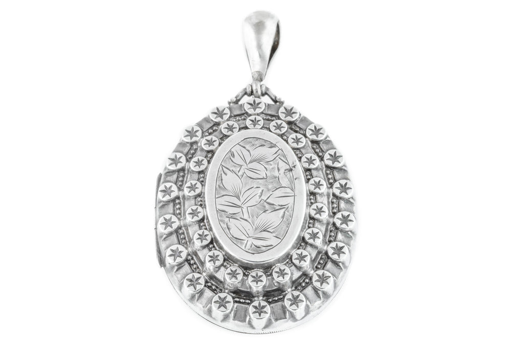Victorian Aesthetic Silver Locket c.1886