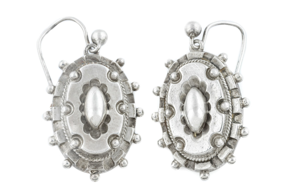 Victorian Aesthetic Silver Drop Earrings