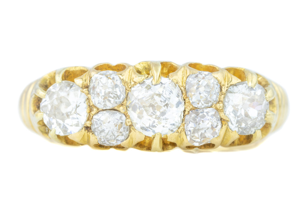 Antique 18ct Gold Diamond Ring (1.22ct) c.1885