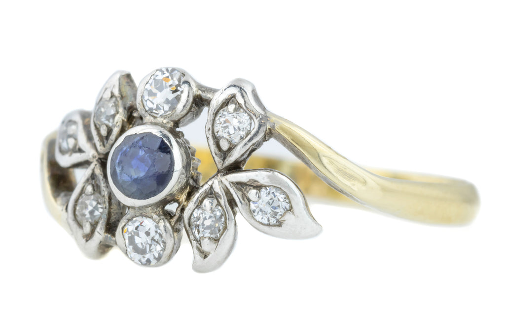 Sapphire and Diamond Victorian 18ct Gold Ring