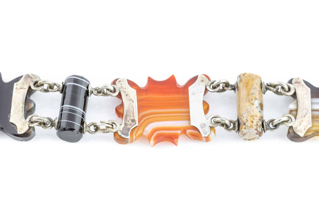 Antique Scottish Agate Bracelet