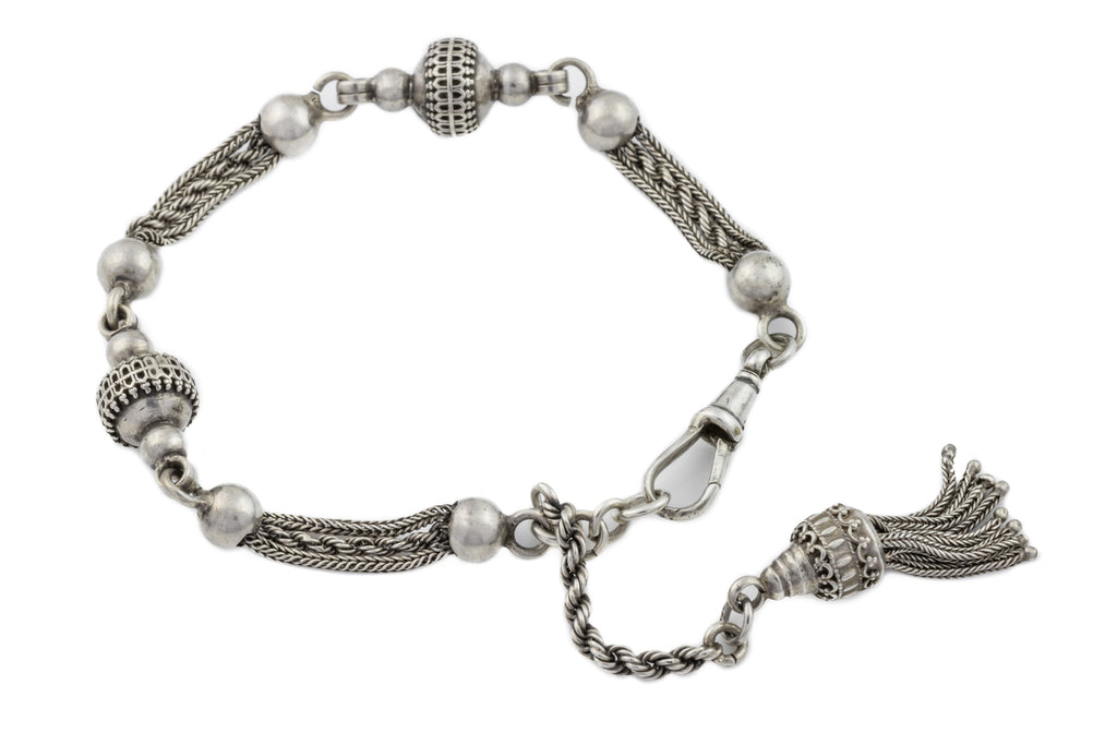 Antique Silver Albertina Bracelet, 8.3""