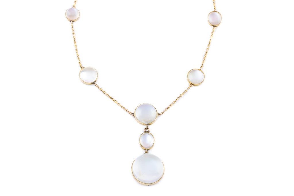 Edwardian Moonstone Drop Necklace