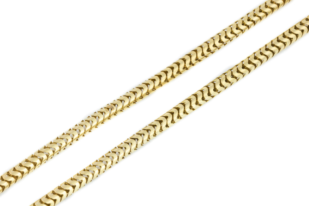 Antique 15ct Gold Snake Chain Necklace - 22g