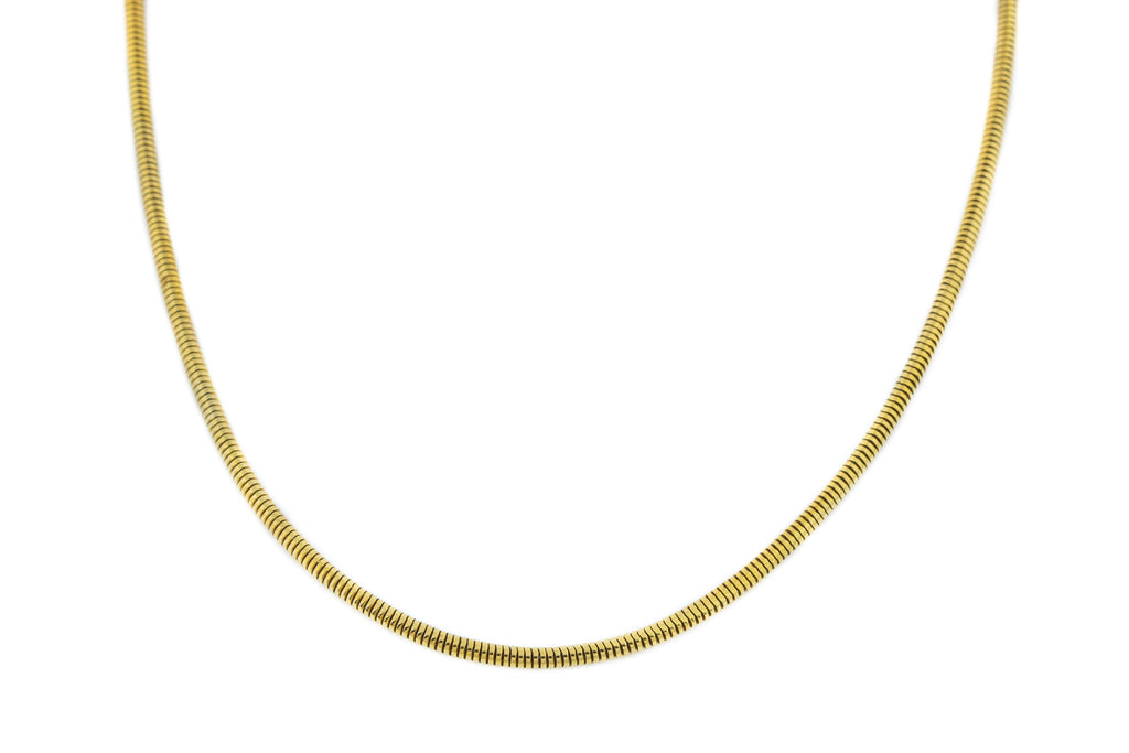 "Rare 18ct Gold Antique Snake Chain Necklace - 16"" (7g)"