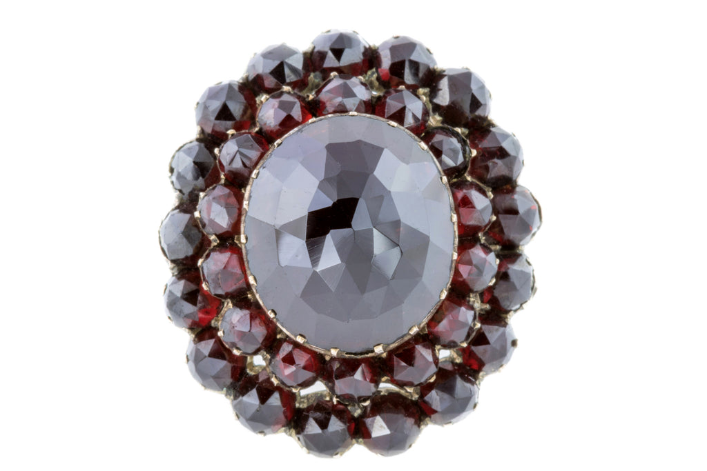 Victorian Bohemian Garnet Cluster Ring (13.67ct)