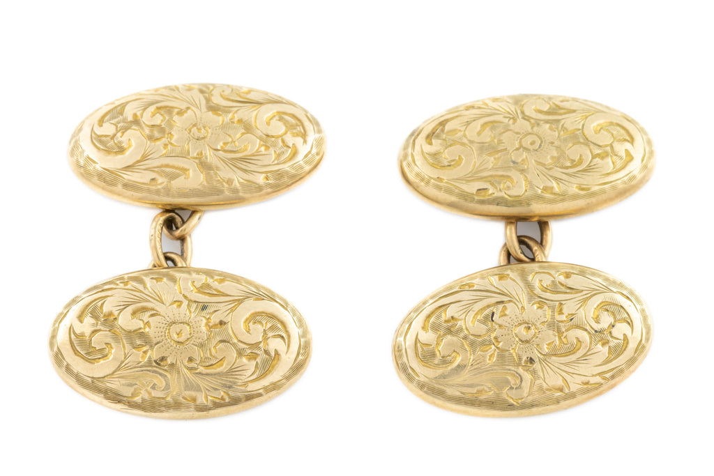 Vintage 9ct Gold Cufflinks c.1927