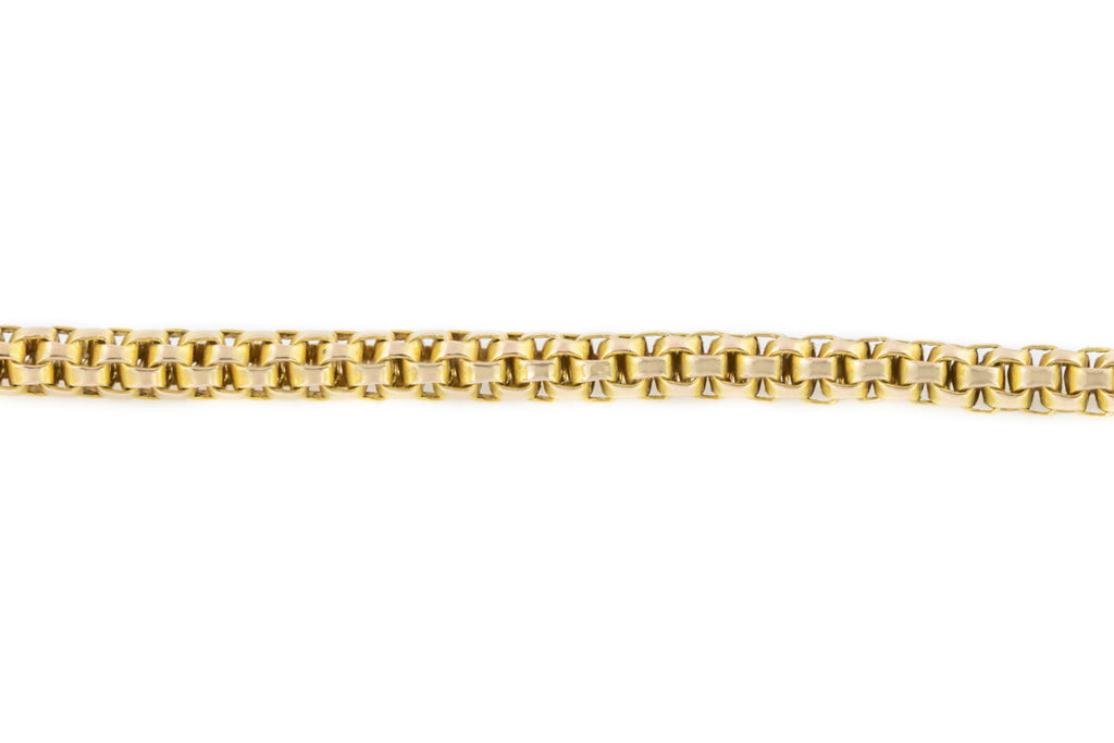 Antique 9ct Gold Box Chain Necklace