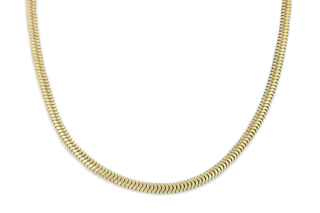Antique 9ct Gold Snake Chain, 15.5""