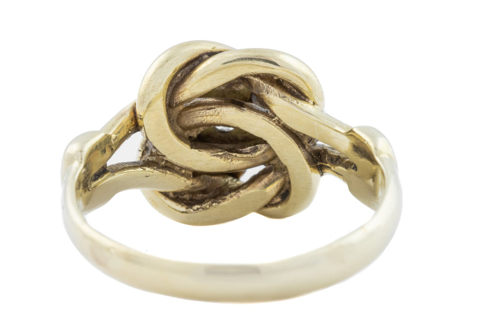 Victorian Gold Lovers Knot Diamond Ring