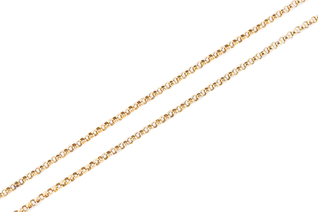 "Antique 16"" 9ct Rose Gold Belcher Chain - c.1910"
