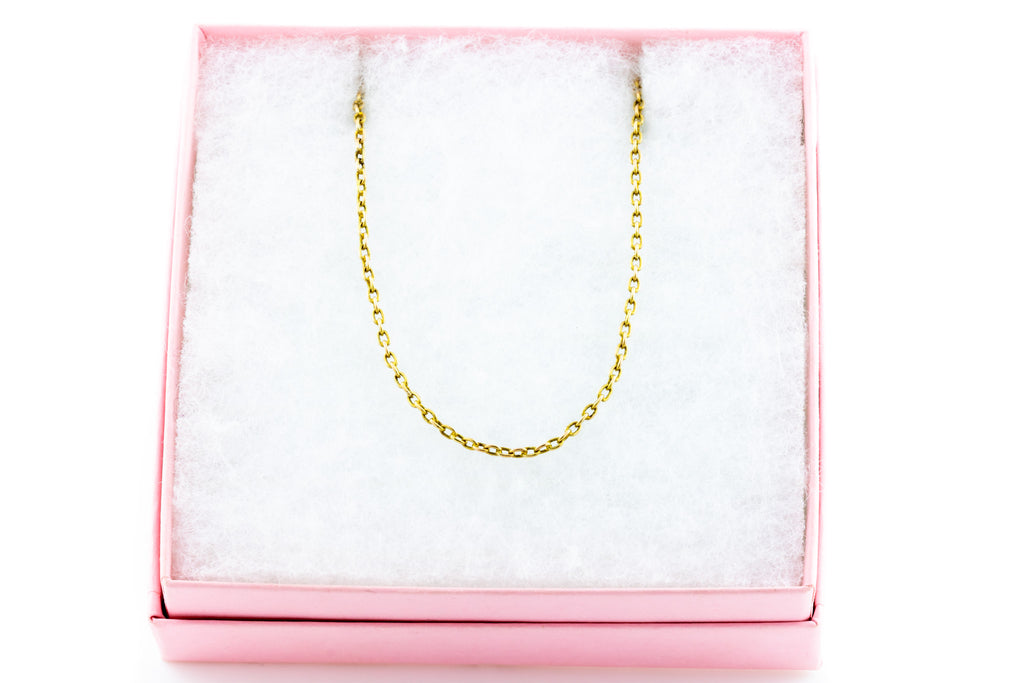 "Antique 9ct Gold Belcher Chain, 16"" (3.4g)"