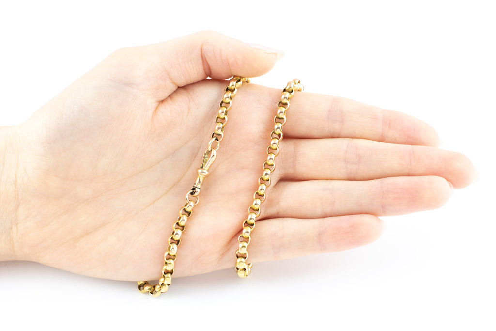 RESERVED FOR SUSAN! - Victorian 9ct Gold Belcher Chain Necklace, 17.5""