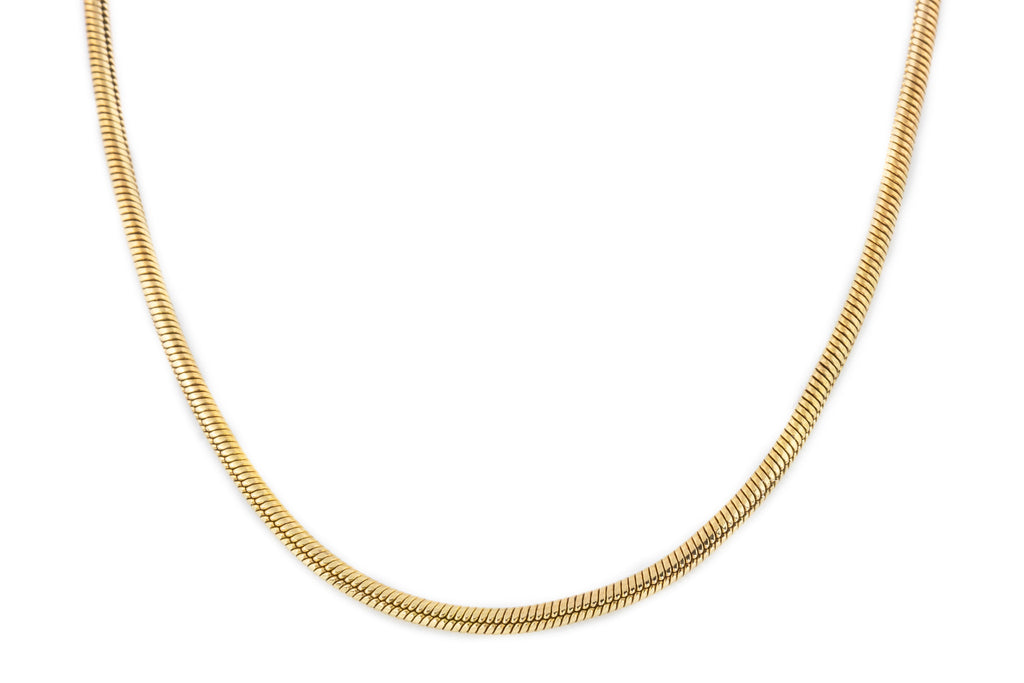 "Antique 9ct Gold Snake Chain 16"" (7.7g)"