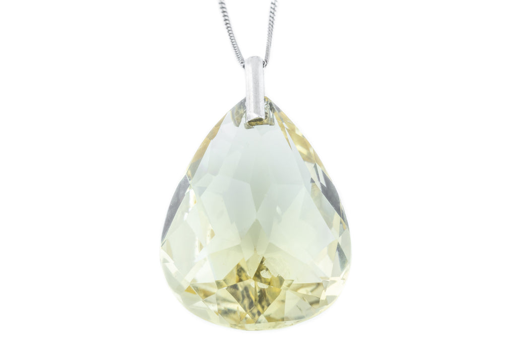 Art Deco Citrine Teardrop Pendant (39.8ct)