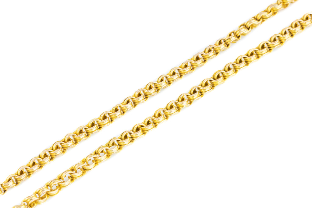 Victorian 9ct Gold Belcher Chain, 18""