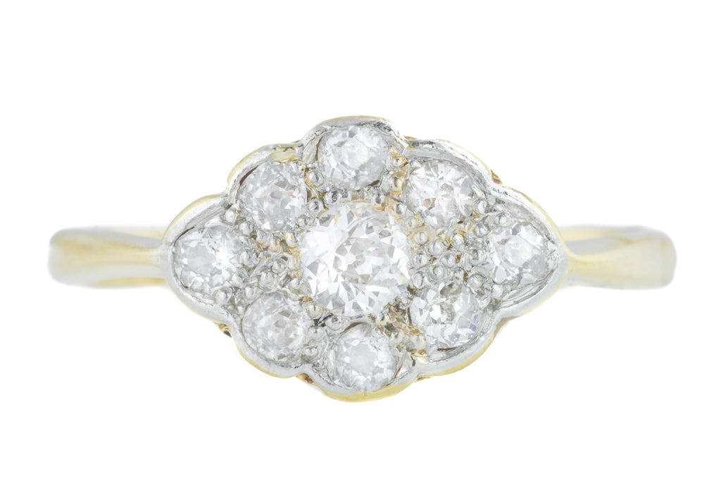 Edwardian Diamond Cluster Ring (0.55ct)