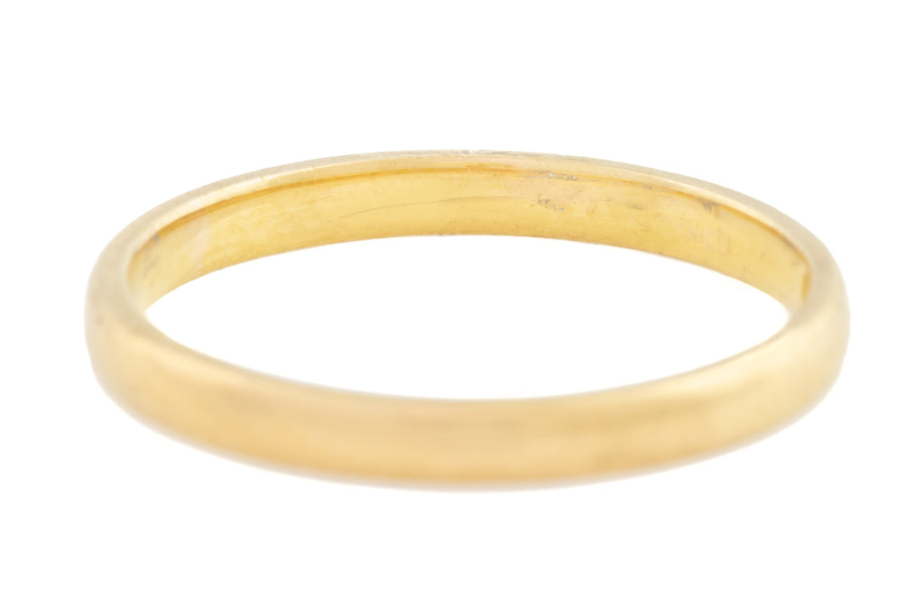 Vintage 22ct Gold Wedding Band c.1953