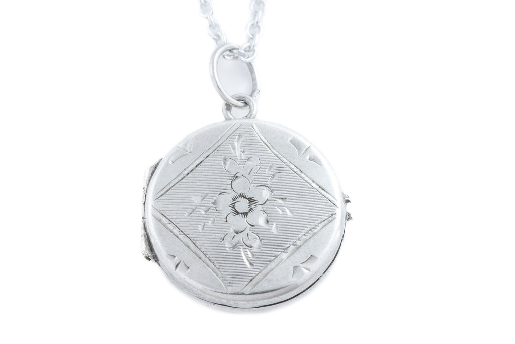 Antique Silver Locket, with Chain
