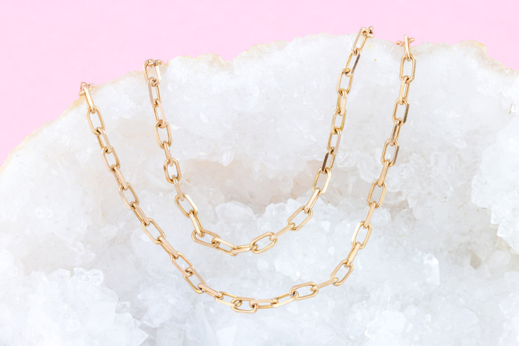 "Victorian Rose Gold Chain Necklace - 19"" (5.7g)"