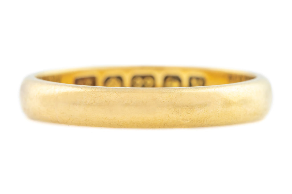 Art Deco Gold Wedding Band - 3.6g