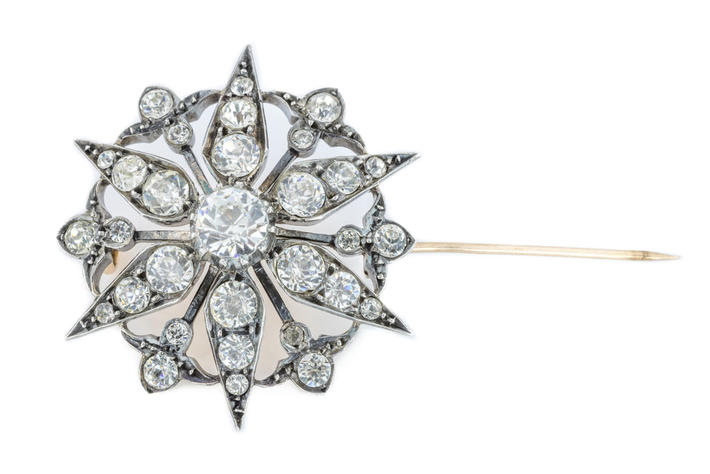 Victorian Paste Star Brooch c.1890