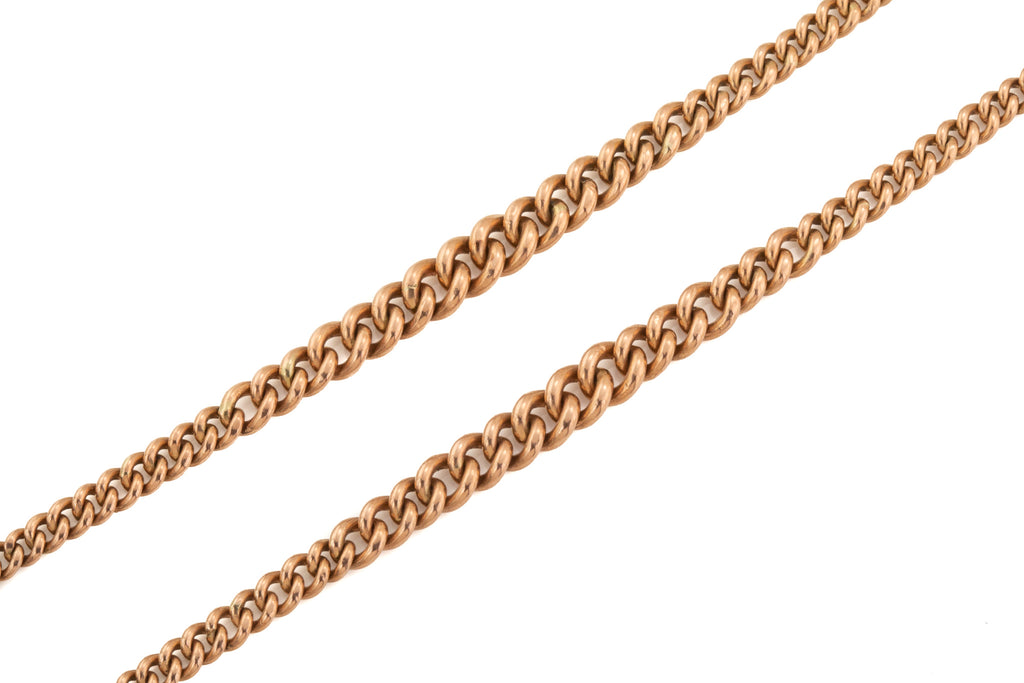 Victorian 9ct Gold Albert Chain Necklace, 22""
