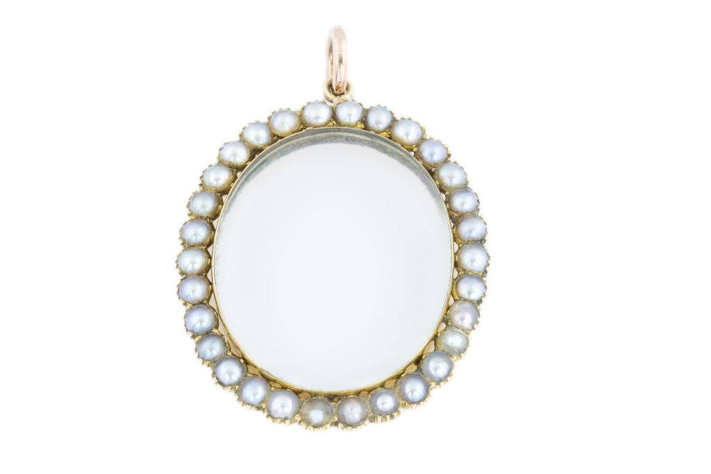Edwardian Gold Pearl Locket