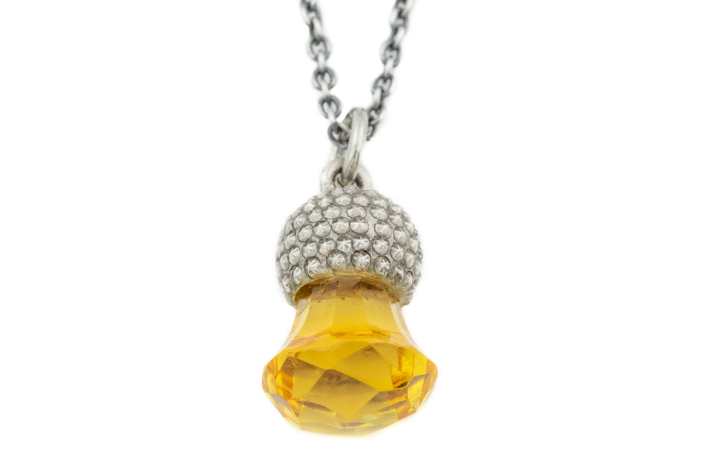 Antique Citrine Thistle Pendant, with Adjustable Chain