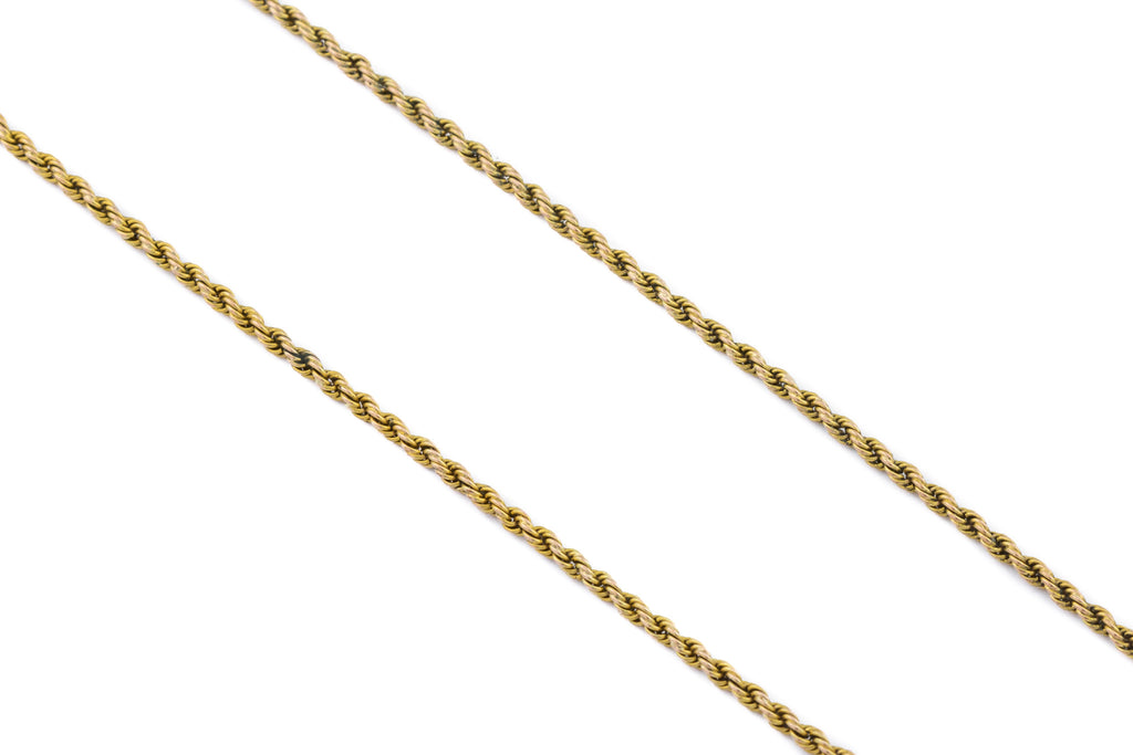 Antique 9ct Gold Snake Chain 15.5""