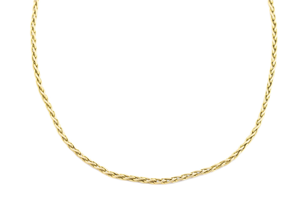Vintage 9ct Gold Wheat Chain - 5.3g 20""