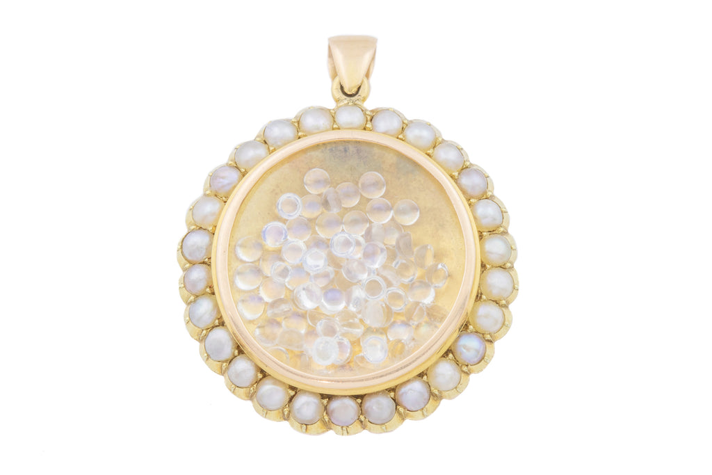 15ct Gold Edwardian Pearl Shaker Locket