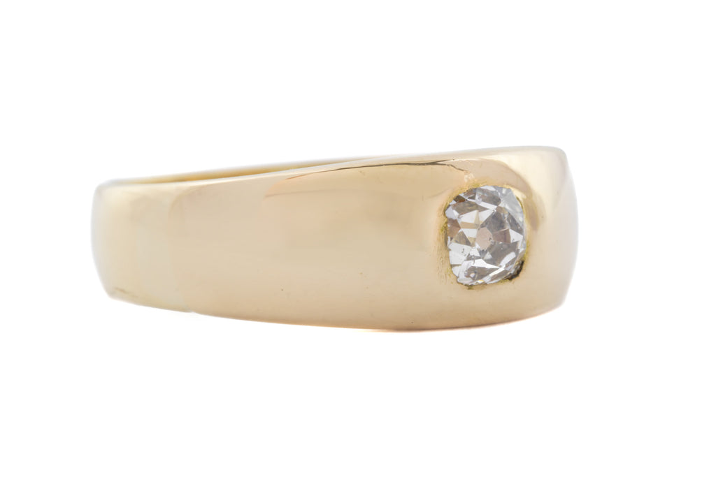 18ct Gold Victorian Diamond Gypsy Ring (0.22ct)