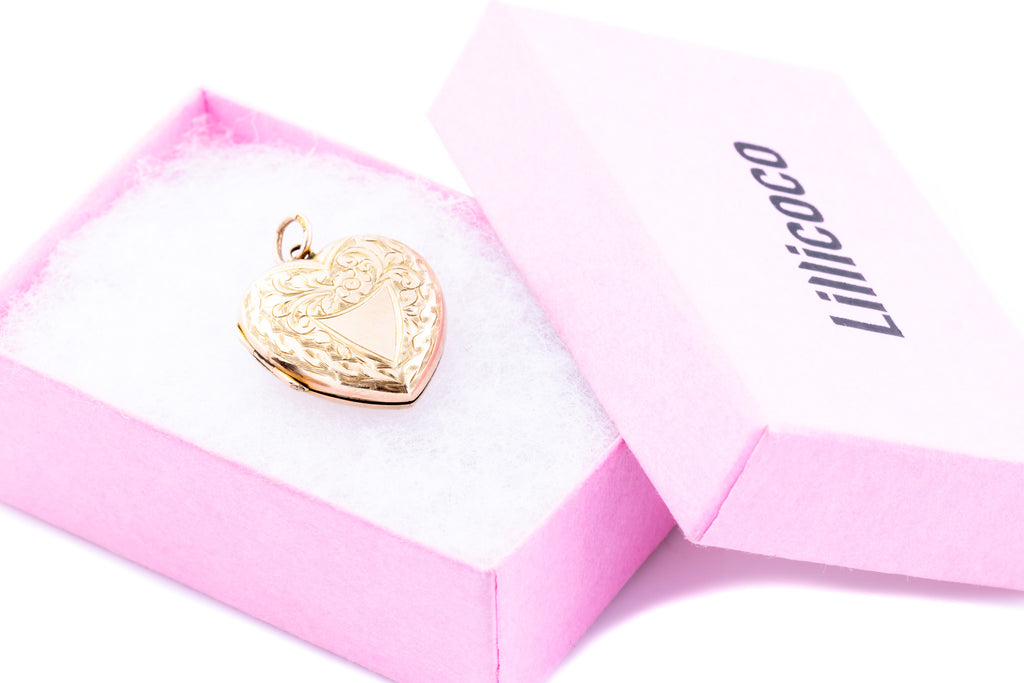 Antique 9ct Gold Heart Locket c.1907